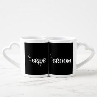 Cowboy Bride and Groom Coffee Mug Set