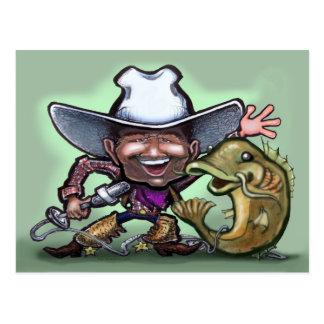 Cowboy Catfish No Gun POSTCARD
