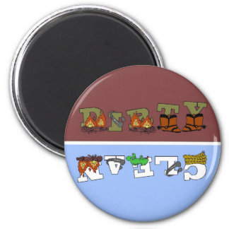 Cowboy Clean/Dirty Dishwasher Magnet