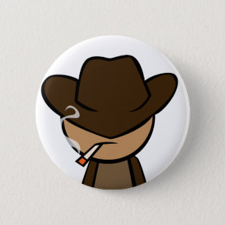 Cowboy Close-up 2 Inch Round Button