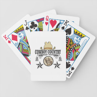 cowboy country rider bicycle playing cards