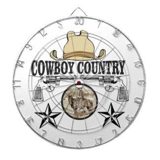 cowboy country rider dartboard