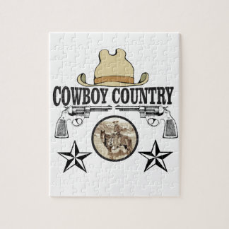 cowboy country rider jigsaw puzzle