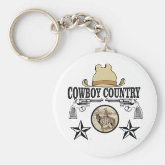 cowboy country rider keychain