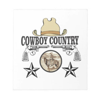 cowboy country rider notepad