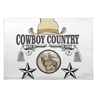 cowboy country rider placemat