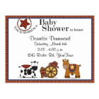 Cowboy/Cowgirl Baby Shower Invitation Postcard