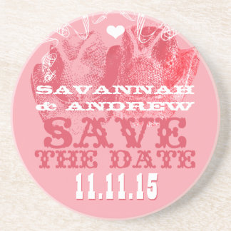 Cowboy Cowgirl Hat Vintage Save the Date Gifts Beverage Coaster