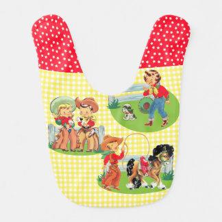 Cowboy Cowgirl Kids Western Baby Gift Bib