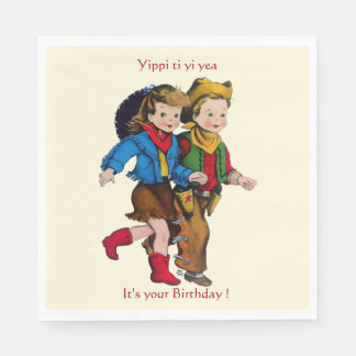 Cowboy Cowgirl Party Disposable Napkins