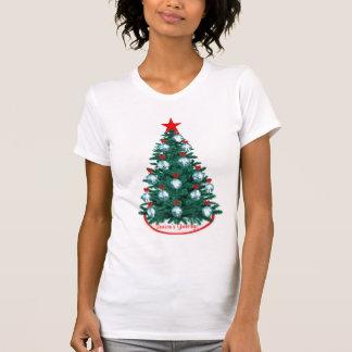 Cowboy Cowgirl Roping Christmas Tree Ornament T-Sh T-Shirt