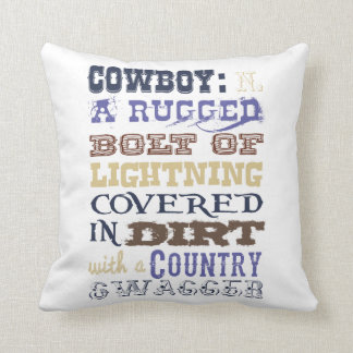 Cowboy Definition Throw Pillow