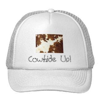 Cowboy d'impression de peau de vache ! casquettes de camionneur
