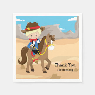 Cowboy Disposable Napkins