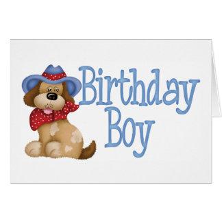Cowboy Dog Birthday Boy Note Card