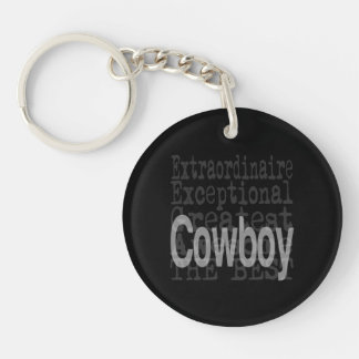 Cowboy Extraordinaire Double-Sided Round Acrylic Keychain
