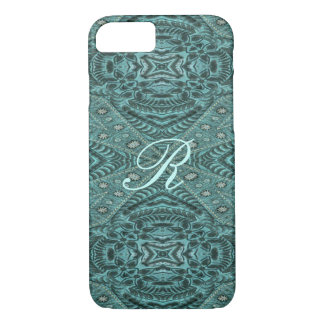 Cowboy fashion Western Country Teal Leather Case-Mate iPhone Case