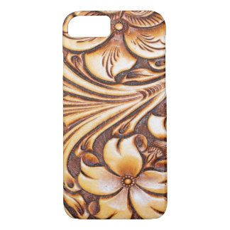 Cowboy Fashion Western Country Tooled Leather iPhone 7 Case
