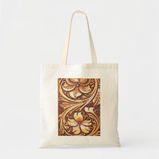 Cowboy Fashion Western Country Tooled Leather Tote Bag