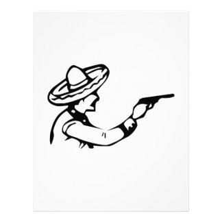 Cowboy Firing Gun Letterhead Template