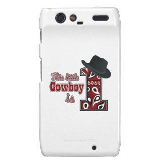 Cowboy First Birthday Droid RAZR Cover