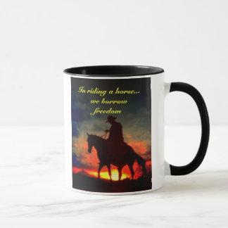 Cowboy freedom mug