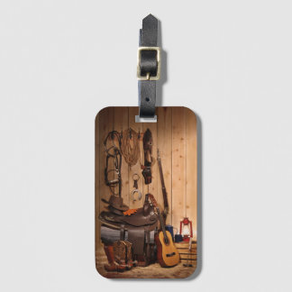 Cowboy Gear Luggage Tag
