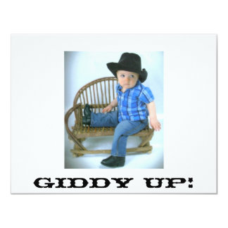 Cowboy Giddy Up Invitation