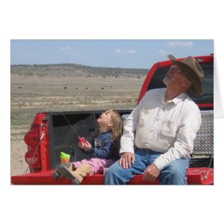 Cowboy Grandpa Birthday - Western Greeting Card
