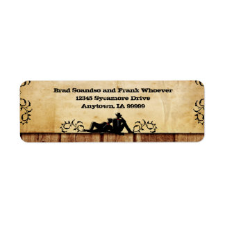 Cowboy Grooms Custom Gay Wedding Return Address