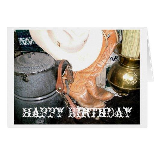 Cowboy, Happy Birthday Greeting Card