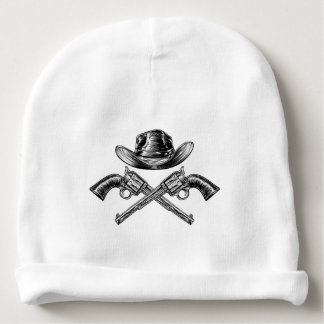 Cowboy Hat and Crossed Guns Baby Beanie