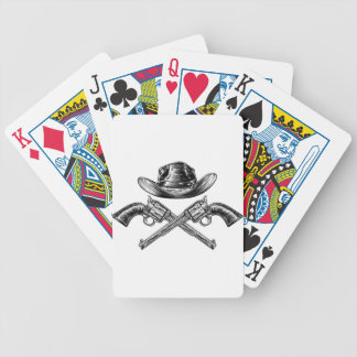 Cowboy Hat and Crossed Guns Bicycle Playing Cards