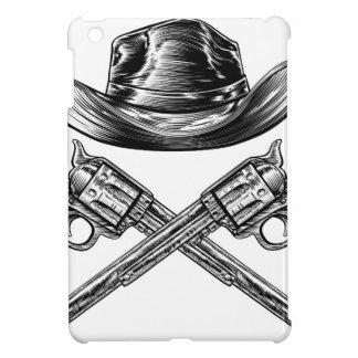 Cowboy Hat and Crossed Guns iPad Mini Cover