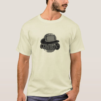 Cowboy! Hat! Black and Grey T-Shirt