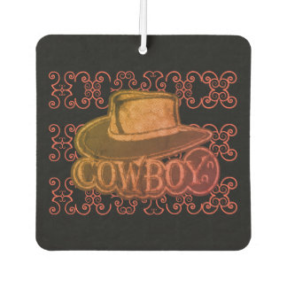 Cowboy Hat Multi-Color Worn Look Car Air Freshener