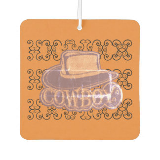 Cowboy Hat Orange Worn Look Air Freshener