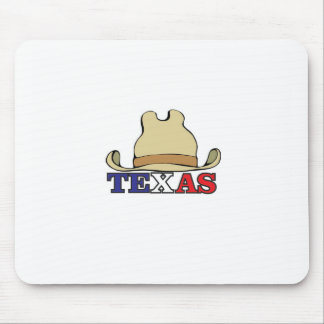Cowboy hat texas mouse pad
