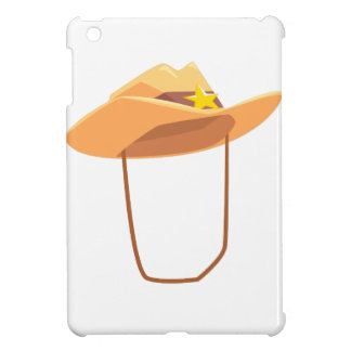 Cowboy Hat With Attaching String Drawing Isolated iPad Mini Covers