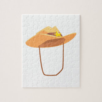 Cowboy Hat With Attaching String Drawing Isolated Jigsaw Puzzle