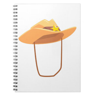 Cowboy Hat With Attaching String Drawing Isolated Notebooks