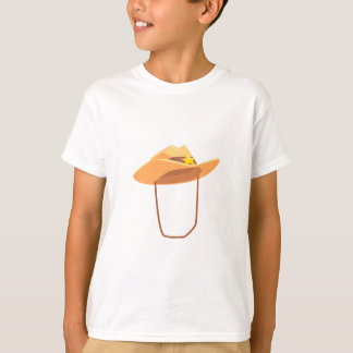 Cowboy Hat With Attaching String Drawing Isolated T-Shirt