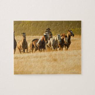 Cowboy herding horses 2 jigsaw puzzle