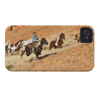 Cowboy herding horses iPhone 4 cover