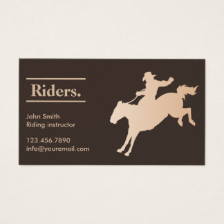 Cowboy Horseback Riding Business Card