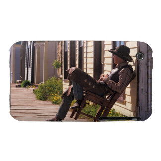 Cowboy in chair on boardwalk in South Park City, Case-Mate iPhone 3 Case