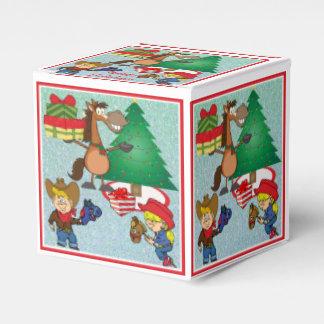 Cowboy Kids And Horse Cartoon Holiday Gift Box