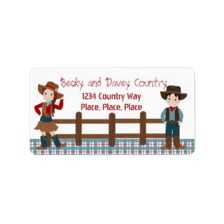 Cowboy Kids Label