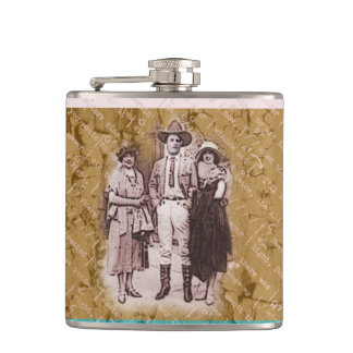 Cowboy Ladies Man Flask