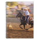 Cowboy lassoing calf notebook
